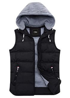 Looking for ZSHOW ZSHOW Women's Winter Padded Vest Removable Hooded Outwear Jacket ? Check out our picks for the ZSHOW ZSHOW Women's Winter Padded Vest Removable Hooded Outwear Jacket from the popular stores - all in one. Vest Coat, Vest Jacket, Padded Jacket, Leather Jacket, Chaleco Casual, Revival Clothing, Down Vest, Mens Clothing Styles, Men's Clothing
