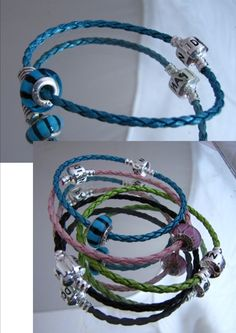 Pandora Braided leather bracelet.