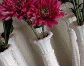 Vintage Milk Glass Bud Vases: 16 Piece Collection