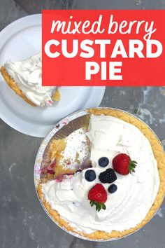 A mixed berry custard pie is a delicious summer dessert to enjoy with your family!  This slimmed down version is a healthier custard pie than many recipes.