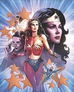 Lynda Carter and dc comics image