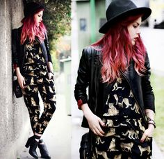 Jumpsuit- She Inside, Jacket- Alpine Stars, Shoes- Choies, Hat- Oasap, Bag- Octabag (BY Lua P)