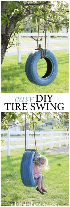 Great tips for building the perfect DIY Tire Swing #oldtiresturnnew #mydiscounttire #spon