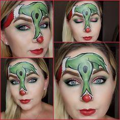 The Grinch makeup look. The Grinch Makeup, Halloween Face Makeup, Makeup Looks 2018