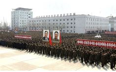 China Warns Tensions Must be 'Defused' in Deepening Korea Crisis--North Koreans attend a rally  in Nampo on April 3, 2013.