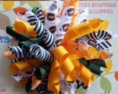 GREEN BAY PACKERS Green Gold Football Korker Bow Infants Toddlers  Girls