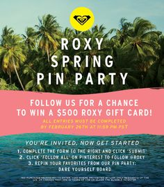 ENTER for a chance to WIN our SPRING PIN PARTY! You're invited! Just click the pic to sign up with us! #DAREYOURSELF
