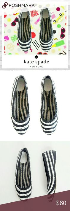 Super Fun! Kate Spade Woven Ballet Flat Sz 11 How fabulous are these vintage Kate Spade woven flats! Sister is parting with them. Doc said no flat shoes but she insisted these are very comfy. He won. Listed! True to size and in excellent vintage condition. Bundle and save!  Sorry no trades. kate spade Shoes Flats & Loafers