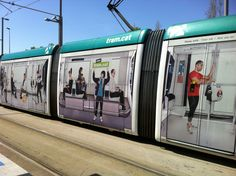 More creative ways to wrap a train! wrap Tram advertising tram - Barcelona
