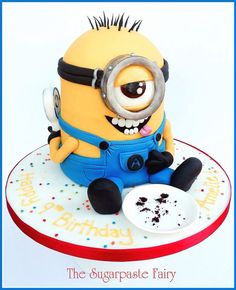 Minion birthday cake - For all your cake decorating supplies, please visit craftcompany.co.uk