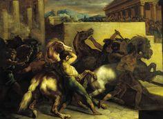 Théodore Géricault, <i>Course de chevaux libres à Rome</i>