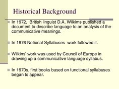 the notional functional syllabus wilkins - Google Search