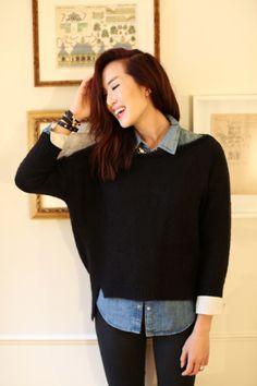 Denim/Sweater