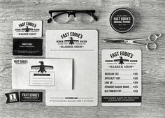 Fast Eddie's Barber Shop : Lovely Stationery . Curating the very best of...