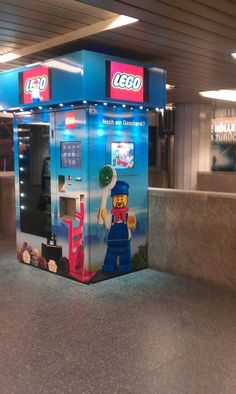 Lego Vending Machine. That would be neat to continue your Lego collection from a vending machine like getting a coke. COOL.