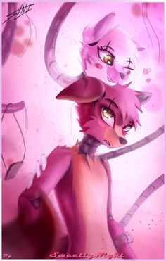 The best shipp of fnaf Five Nights At Anime, Five Nights At Freddy's, Freddy S, Anime Fnaf, Kawaii Anime, Doki Doki Anime, Arte Do Kawaii, Foxy And Mangle, Fnaf Wallpapers