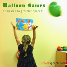 Balls, Balloons and Bubbles - Balloon Games | iHeartSpeech.com