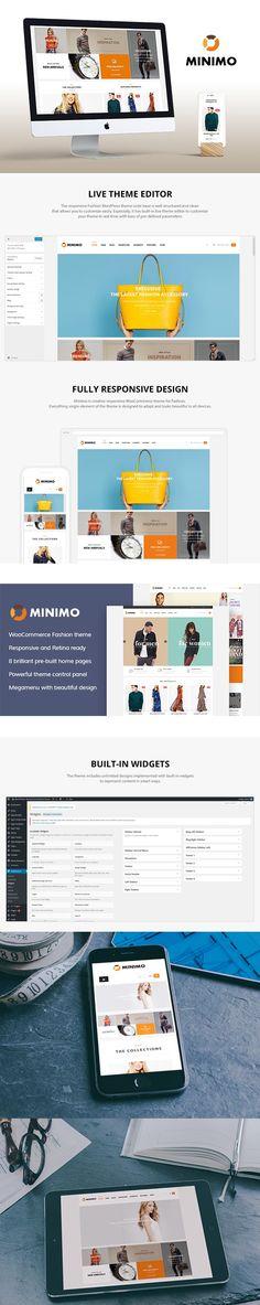 Minimo - Fashion Wordpress Theme. WordPress eCommerce Themes. $55.00