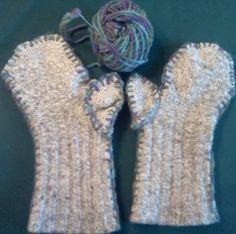 How to turn a pair of socks into mittens! This is a great sewing project for kids to try!