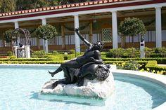 Getty Villa Fountain & Statue