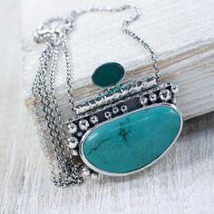 Srebrny naszyjnik z turkusem - Naszyjniki - Biżuteria w ArsNeo