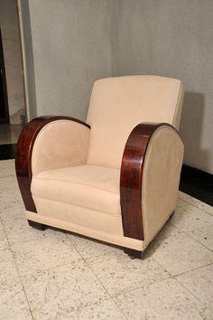 1stdibs   Pair Art Deco Club Chairs, England, c. 1920's