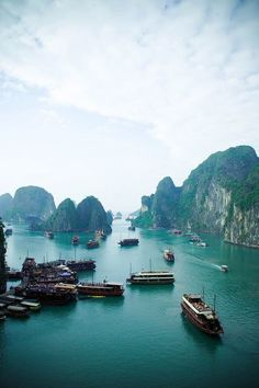 """cup-of-teal: """"stains-of-time: """" westeastsouthnorth: """" Ha Long Bay, Vietnam """" 3 more years till I will be there. """" one of my favorite places in the world """" Vietnam Voyage, Vietnam Travel, Asia Travel, Places Around The World, Travel Around The World, Around The Worlds, Places To Travel, Places To See, Travel Destinations"""
