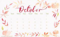 Download free October 2016 calendar, printable, template in excel, pdf, word…