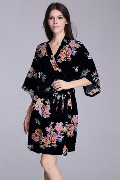 6d0a040e1f inexpensive bridesmaid robes kimono style dresswhat by MMInkPrint