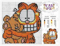 Garfield x-stitch