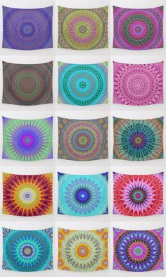 Mandala wall tapestry collection. Mandala - bohemian - ethnic - indian - floral - kaleidoscope tapestries - wall hangings.