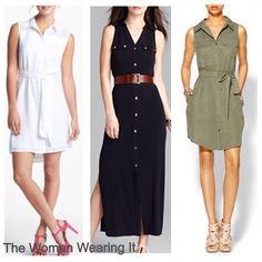 The Woman Wearing It #shirtdress #blog #style #fashion