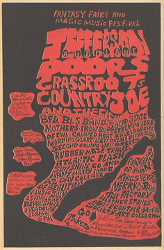 Original full page newspaper concert ad for the Magic Music Festival featuring Jefferson Airplane, the Doors, Iron Butterfly, and Country Joe anf the Fish in San Diego. Original ad, not a photocopy or reproduction. I Love Music, Sound Of Music, Good Music, Concert Posters, Music Posters, Rock Band Posters, Jefferson Airplane, Poster Pictures, Best Rock
