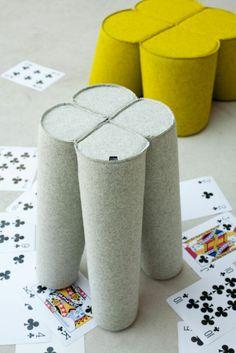Trefle, stools by NOTI