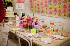 Bright neon wedding reception styling   One Fine Day Sydney