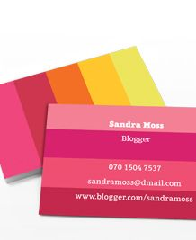 Business Card design 'Perfectly Pink'
