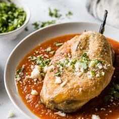 Easy Flan Recipe {Only 5 Ingredients!} - Isabel Eats Roasted Poblano Peppers, Stuffed Poblano Peppers, Mexican Dishes, Mexican Food Recipes, Mexican Bread, Mexican Chorizo, Dinner Recipes, Authentic Chile Relleno Recipe, Red Enchilada Sauce