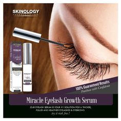 Eyelash Growth Serum 3.5 ml - BEST Scientific Lash Enhancing Treatment for Longer, Fuller Eyelashes & Thicker Eyebrows - No Irritation, Dermatologist Tested Product from Skinology Cosmeceuticals: Beauty
