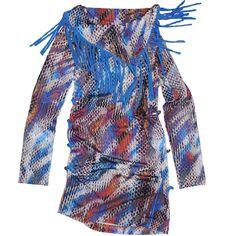 Carbone bequeme Tunika Kleid Schlangenmuster Blau
