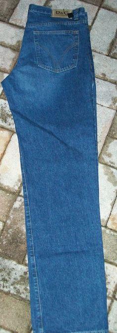 Nwot D&G Dolce & Gabbana Men's Med Blue Classic Straight Jeans 38 X 36 New - Jeans