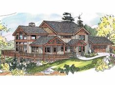 Eplans Craftsman House Plan - Craftsman with Wrap Around Porch - 2726 Square Feet and 3 Bedrooms from Eplans - House Plan Code HWEPL66723
