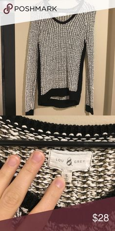 LOFT sweater. Size S Selling this LOFT black and white sweater. Size S Lou & Grey Sweaters