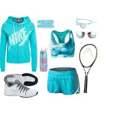 I had a Great Tennis Practice!!! by agirlyprepster on Polyvore featuring NIKE, CamelBak and Vineyard Vines