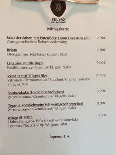 Und diese Woche gibt es:    Brusko griechisches Grill Restaurant   www.brusko.de #Mittagslunch #Businessluch #Mittagsmenu #Pause #Brusko #griechischesRestaurant #Muenchen #Schwabing #Leopoldstrasse #Grieche #Restaurant #Eventlocation #griechisches #Grill