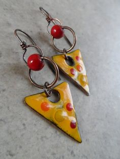Slice of Life ... Enameled Copper Bright Rustic by juliethelen