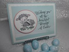 Supplies: Easter Lamb Wood-Mount Stamp [140740] $10.00 Suite Sayings Clear-Mount Stamp Set [140712] $21.00 Basic Black Archival Stampin' Pad [140931] $7.00 Perfectly Artistic Designer Series Paper [141021] $0.00 Soft Sky 8-1/2″ X 11″ Card Stock [131203] $7.00 Whisper White 8-1/2″ X 11″ Card Stock [100730] $8.50 Twine Baker's Whisper White [124262] $3.00 2-1/2″ Circle Punch …