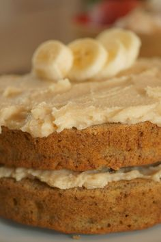 Gluten-free banana coconut cake. I would change the oat flour and buckwheat flour to almond and coconut flours