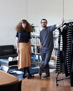 Siblings Georgie and Alex Cleary of iconic Australian label Alpha60. Photo by Sean Fennessy for thedesignfiles.net