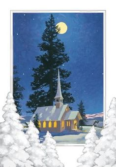 Chapel in Snow Christmas Cards with art by Joni Eareckson Tada