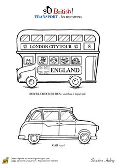 London coloriages pinterest coloriage illustrations - Dessin bus anglais ...